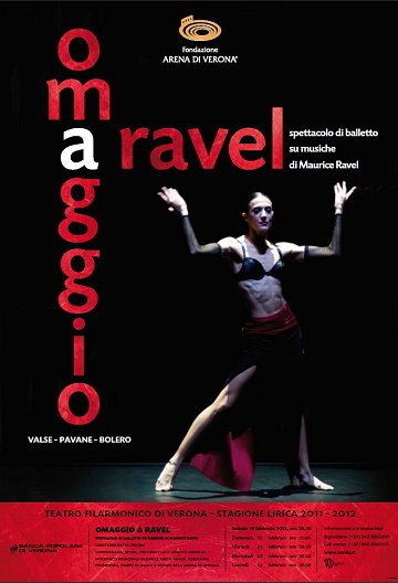 19 Febbraio, Teatro Filarmonico di Verona: Balletto 'Omaggio a Ravel'