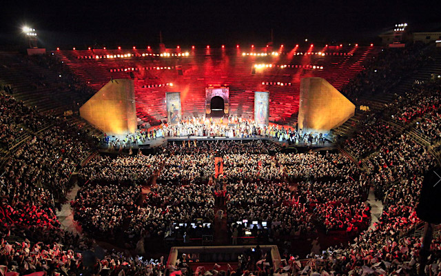 In memoria di Luciano Pavarotti, Arena di Verona 6 settembre 2017