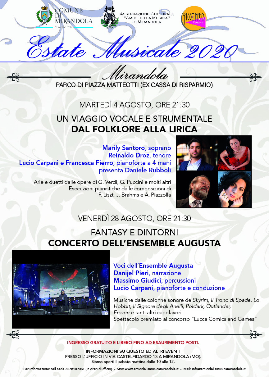 Estate Musicale 2020 – Mirandola