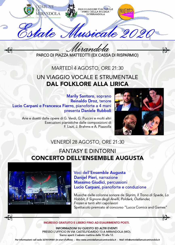 Estate Musicale 2020 – Mirandola